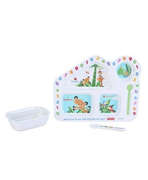 Fisher Price Learning Numbers House Shape Meal Set - 3 Pieces