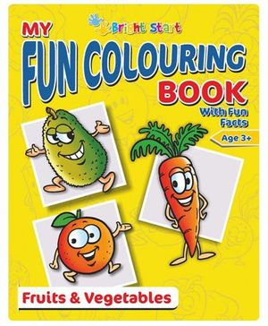 My Fun Colouring Book Fruits & Vegetables - English