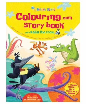 Colouring Cum Story Book With Kalia The Crow - English