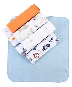 Ben Benny Printed Handkerchief Set Of 8 - Multi Color