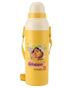 Cello Homeware Bheem Print Water Bottle - Yellow