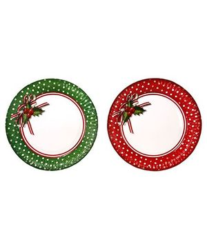 Charmed Celebrations Jolly Holly Paper Plates