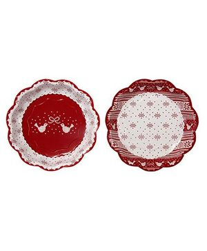 Charmed Celebrations Knitted Noel Paper Plates