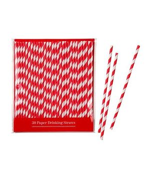 Charmed Celebrations Red & X-Mas Paper Straws