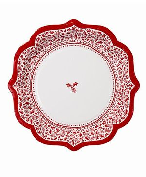 Charmed Celebrations Red & X-Mas Paper Plates