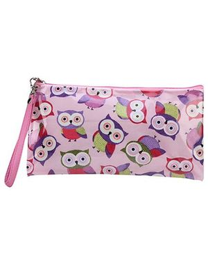 The Eed Pencil Pouch Owl Print - Pink