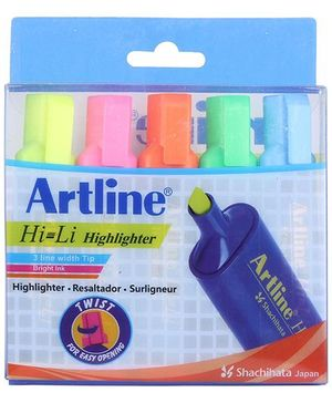Artline Highlighter - Pack Of 5
