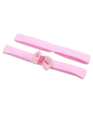 AddOn Headband With Bow Accent - Pink