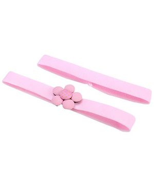 AddOn Headband With Flower Accent - Pink
