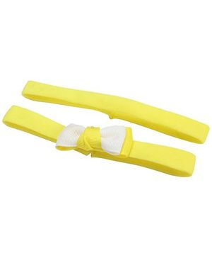 AddOn Headband With Bow Accent - Yellow