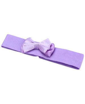 AddOn Headband With Bow Accent - Purple