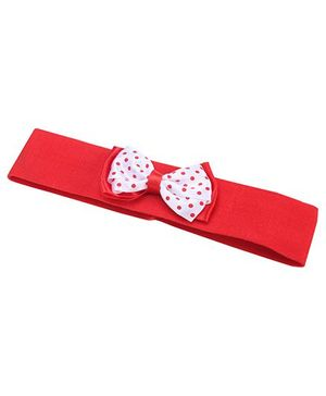 AddOn Headband With Bow Accent - Red