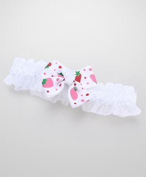 AddOn Headband With Bow Accent - White