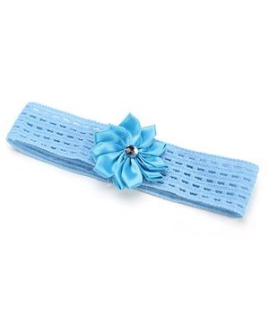 AddOn Headband With Flower Accent - Blue