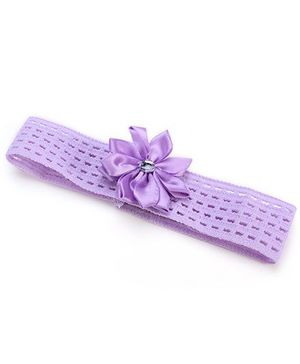 AddOn Headband With Flower Accent - Purple