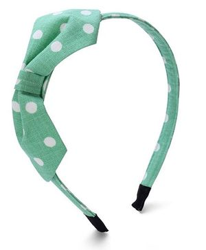 Clip Case Hair Band Polka Dots Print - Green