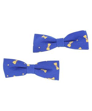 Clip Case Alligator Clip Bow Applique - Blue