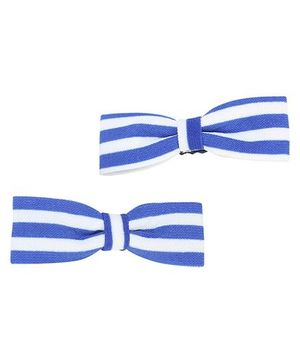 Clip Case Alligator Clip Bow Applique - Blue and White