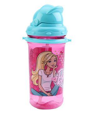 Barbie Sparkle Tritan Sipper Water Bottle Blue & Pink - 500 ml
