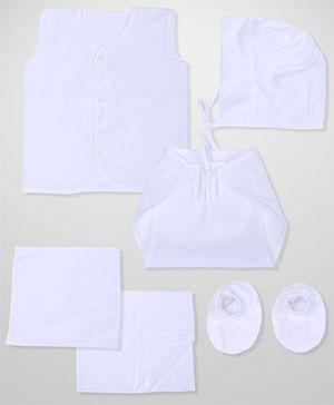 Babyhug Clothing Gift Set Pack Of 12 - White