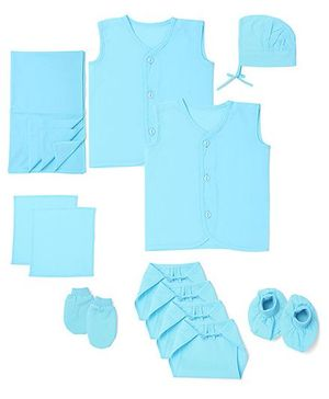 Babyhug Clothing Gift Set Pack Of 12 - Blue