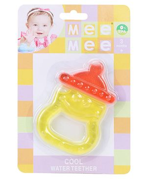 Mee Mee Water Filled Teether And Soother - Yellow