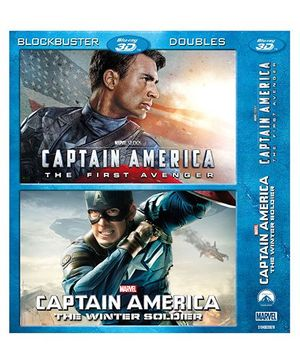 Marvel Captain America The First Avenger & The Winter Soldier Blu-ray Discs - English