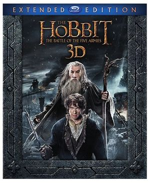 Sony The Hobbit The Battle Of The Five Armies 3D Blue Ray Disc - English