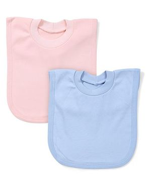 Babyhug Vest Style Bibs Pack of 2 - Peach Blue