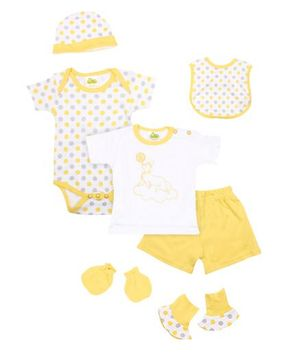 Beebop 7 Piece Baby Apparel Gift Set - Yellow