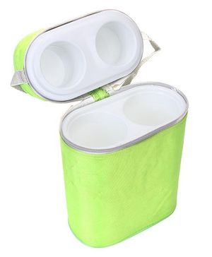 Insulated Double Bottle Bag - Lime Green