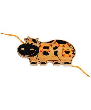 Little Genius - Wooden  Lacing Cow