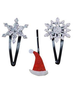 Chotee Santa Hat & Snowflake Clips - Red