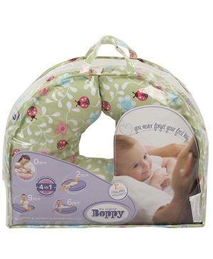 Chicco Boppy Pillow Cotton Slip Cover Ladybug Lane - Green