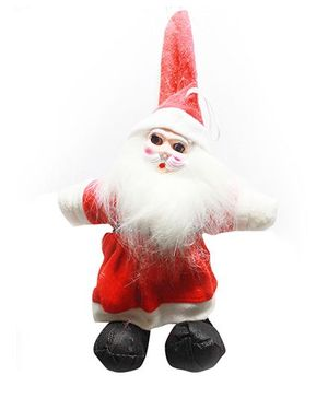 Prettyurparty Santa Soft Toy Christmas Decoration - Red