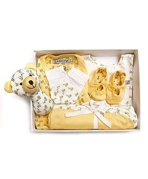 Mi Dulce An'ya Organic Cotton Gift Set Pack of 6 - Yellow