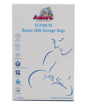 Adore Sunmum Breast Milk Storage Bag - 25 Bags