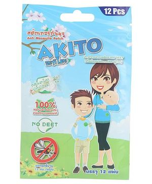 Akito Mosquito Repellent Patches - Pack Of 12