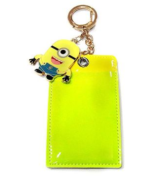 EZ Life Card Holder Keychain With Minion - Lime Green & Yellow