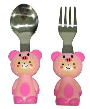 EZ Life Piggy Cutlery Set - Pink