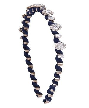 Cutecumber Diamond Studded Hair Band - Navy