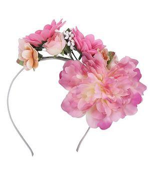 Cutecumber Hair Band With Flower Motif - Pink