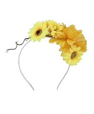 Cutecumber Flower Motif Hair Band - Yellow
