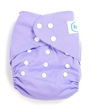 Babyhug Free Size Reusable Cloth Diaper With Insert - Purple