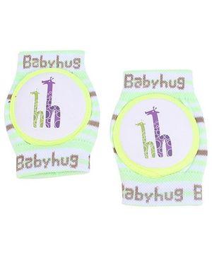 Babyhug Knee Protection Pads Giraffe Print - Green And White