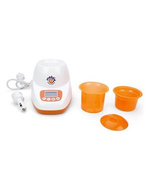 Mebby LCD Baby Bottle Warmer Home And Car - Orange And White