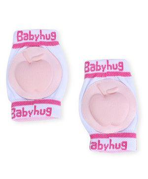 Babyhug Knee Protection Pads Apple Design - Light Pink & White