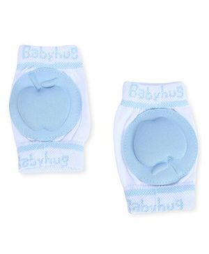 Babyhug Knee Protection Pads Apple Design - Blue & White