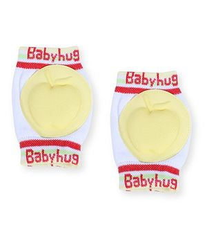 Babyhug Knee Protection Pads Apple Design - Yellow & White