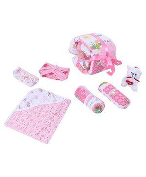 Richhandknits Baby Gift Set Pack of 16 - Pink